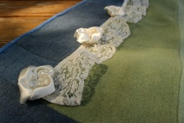 """©Joan Olson """"Satin and Lace"""" (37x57) Medium: Felted wool sweaters"""